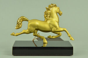 Detailed Rare Austrian Vienna Bronze 24k Gold Plated Horse Sculpture Statue Sale