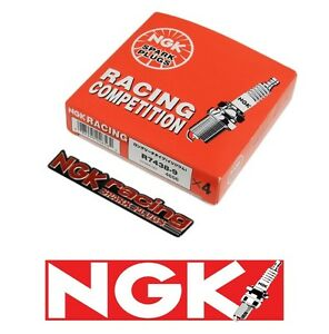 X4 Ngk Competition Racing Spark Plugs 1 Step Colder For Mitsubishi Evo Emblem