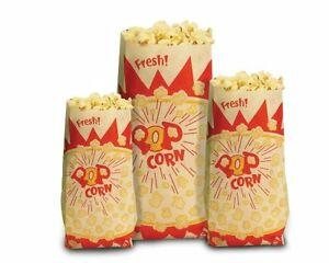 Paragon 1 ounce Popcorn Bags 1 000 count New Free Shipping