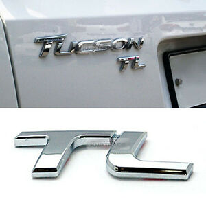 Rear Trunk Tl Lettering Chrome Emblem Logo Badge 1pcs For Hyundai 2016 18 Tucson