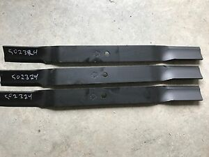 King Kutter 6 Finish Mower Blades Set Of Three 3 502324