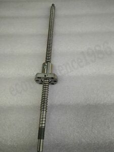 1x Antibacklash Rm1604 400 Mm Ballscrew With End Machine With Ballscrew Nut