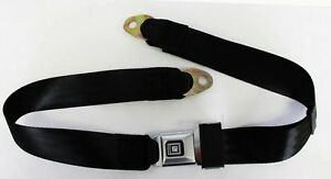 New Black Seat Belts Gm Logo Metal Buckle 60 Long Camaro Buick Price Is Each