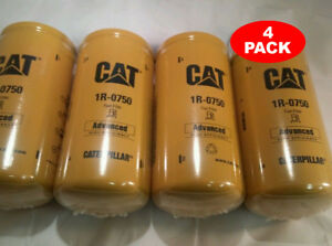 4 Pack New Cat Fuel Filters 1r 0750 Made In Usa Caterpillar Oem 1r0750
