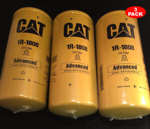 3 Pack New Cat 1r 1808 Filter As Caterpillar Oem 1r1808
