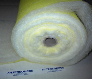 Paint Spray Booth Floor Filter Roll 30 x300ft premium 22 Gram Neshap 6h Rated