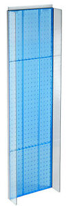 New Retails Blue Plastic Pegboard Powerwing Display 14 w X 44 high
