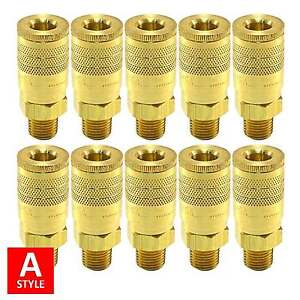 A Style Quick Coupler Air Hose Connector Fittings 1 4 Npt Tools Plug Compressor
