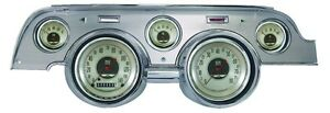 Classic Instruments 67 68 Ford Mustang Gauges Brushed Aluminum Bezel Mu67anba