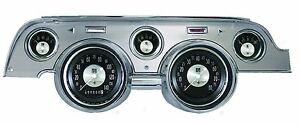 Classic Instruments 67 68 Ford Mustang Gauges Brushed Aluminum Bezel Mu67atba