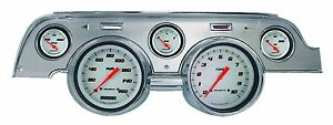 Classic Instruments 67 68 Ford Mustang Gauges Brushed Aluminum Bezel Mu67vswba