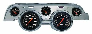 Classic Instruments 67 68 Ford Mustang Gauges Brushed Aluminum Bezel Mu67vsbba