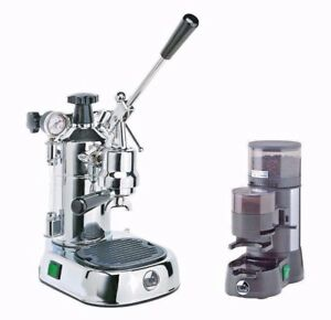 La Pavoni Pl Professional Lever Espresso Machine Coffee Maker Jdl Grinder Set