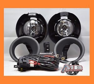 Replacement Clear Lens Fog Light Kit Lamp For 05 15 Nissan Frontier Metal Bumper