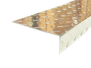 Aluminum Diamond Plate Angle 062 X 1 5 X 5 5 X 48 In Offset 3003 Uaac 2pcs