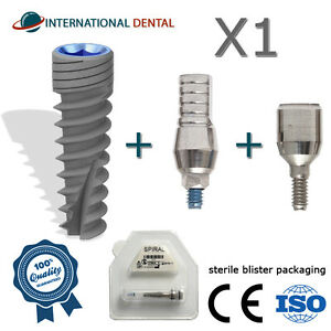 Spiral Dental Implant Sterile Abutment Healing Cap Internal Hex
