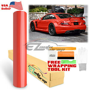 Premium Gloss Glossy Red Vinyl Car Wrap Sticker Decal Bubble Free Sheet Film