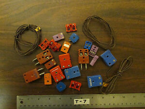 Bag Of Assorted Omega Marlin Thermocouple Connectors Thermocouples