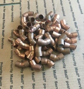 Copper 45 Degree Cup X Cup Elbows Mueller And Nibco 1 2 Quantity Of 50