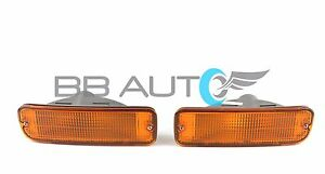 New Front Bumper Park Signal Lights W Bulb Set For 1998 2000 Toyota Tacoma 2wd