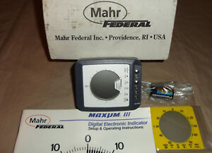 Mahr Federal 2033021 Maxum Iii Digital Electronic Indicator New