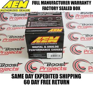 Aem 52mm Digital 0 150psi Oil Pressure Gauge Electrical Outputs To Data Loggers