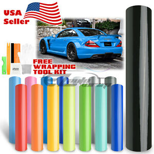 premium Gloss Glossy Vinyl Car Auto Wrap Sticker Decal Bubble Free Air Release
