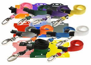 Safety Neck Strap Lanyard lobster Clip And Badge Id Card Holder Lot