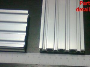 Aluminum T slot 2080 Extruded Profile 20x80 6 Length 1500mm 60 2 Pieces Set