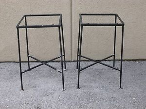 Pair Of Salterini Tempestini Side Table Sold As Is W O Glass Or Bottom Shelves