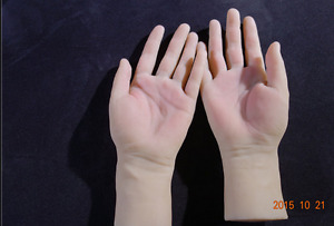 New Arrival one Pair Realistic Silicone Female Mannequin Hands For Ring