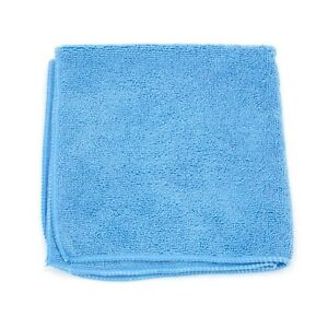 60 pack Auto Polishing Towels Microfiber Cleaning Cloth Blue 16x16 In