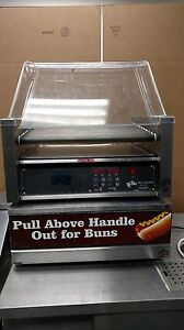 Star Mfg 30sce Grill max Pro Electronic 30 Hot Dog Roller Grill With Bun Drawer