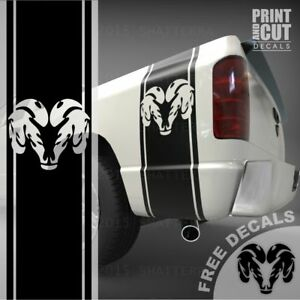 1500 2500 3500 Truck Bed Side Stripes Custom Ram Decals Sticker Graphics Ds 005a