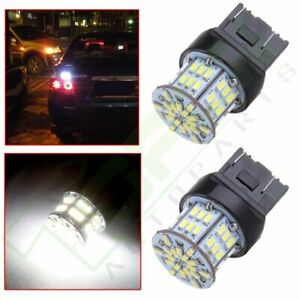 4 Ultra White 3157 54smd Led Bulbs Backup Reverse Brake Turn Signal Light Lamps