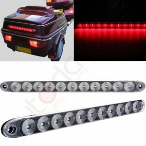 2 15 Clear Red 11 Led Trailer Truck Rv Stop Tail Turn Brake Light Bar