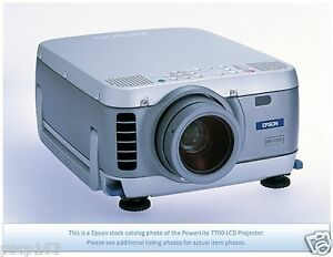Epson Powerlite 7700p Lcd Projector With New Bulb