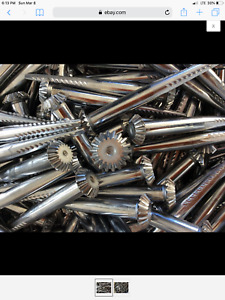 Box Of 40 Cotton Gin Spikes Land Surveying Equipment