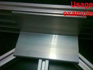 Aluminum T slot Profile Blank Elbow Join Angle Support 60x60x4mm L120mm 4 set