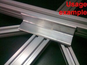 Aluminum T slot Profile Blank Elbow Join Angle Support 30x30x4mm L120mm 4 set