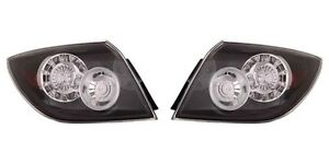 2004 2009 Mazda 3 Hatchback Tail Lamp Light W led Type Left And Right Pair Set