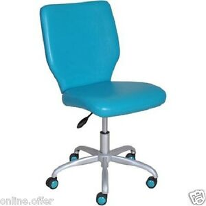 Office Chair For Girls Teal Adjustable Furniture Computer Desk Seat Youth Teen