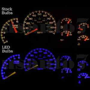 Dash Cluster Gauges Blue Smd Led Lights Kit Fits 99 02 Chevy Silverado 1500 2500