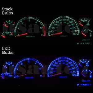 Dash Instrument Cluster Gauge Blue Led Lights Kit Fits 98 01 Dodge Ram 1500 2500
