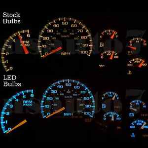 Dash Cluster Gauge Aqua Blue Led Lights Kit Fits 99 02 Chevy Silverado 1500 2500