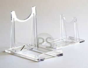 Adjustable Twist Display Stand Clear Plastic 2 To 4 Card Photo Print Dvd