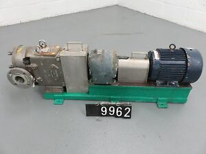 Waukesha 060u2sp Positive Displacement Pump With Base And Motor pm9962 63