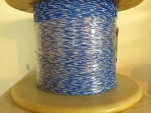 High Temperature Teflon Wire Gauge 26 19strands Type E Blue white 1000ft