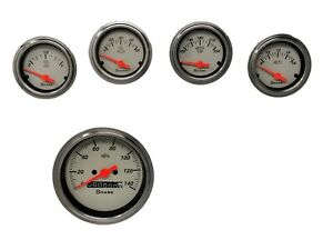 5 Gauge Dash Street Rod Hot Rod Universal set Mechanical Shark