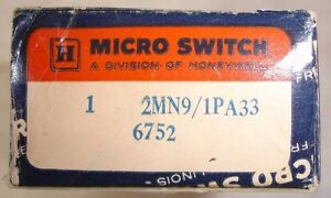 Micro Switch Limit Switch Honeywell 2mn9 1pa33 N o N c 6752 2mn9